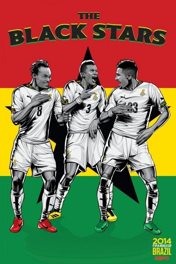 Sôi động cùng Poster cổ động World Cup 2014 -16