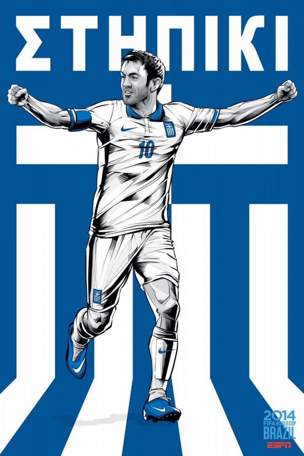 Sôi động cùng Poster cổ động World Cup 2014 -17