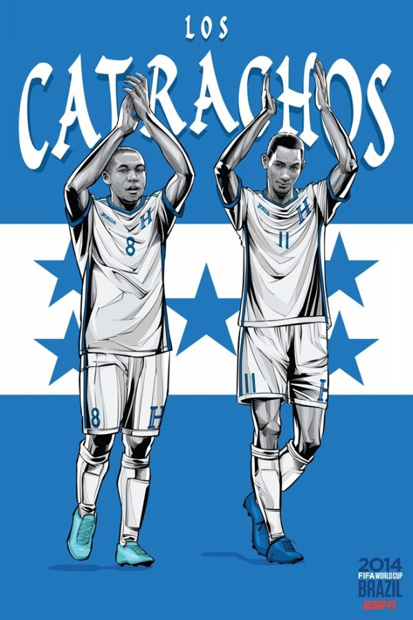 Sôi động cùng Poster cổ động World Cup 2014 -18