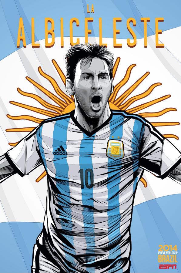 Sôi động cùng Poster cổ động World Cup 2014 -2