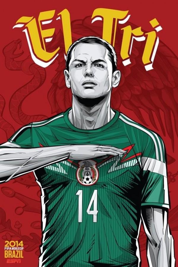 Sôi động cùng Poster cổ động World Cup 2014 -23