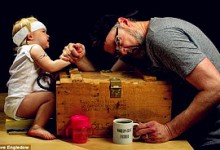 """Bộ ảnh """"Người cha vĩ đại nhất Thế Giới"""" lay động hàng vạn trái tim"""