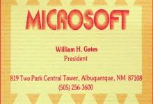 Cùng ngắm Card visit của những CEO công nghệ nổi tiếng
