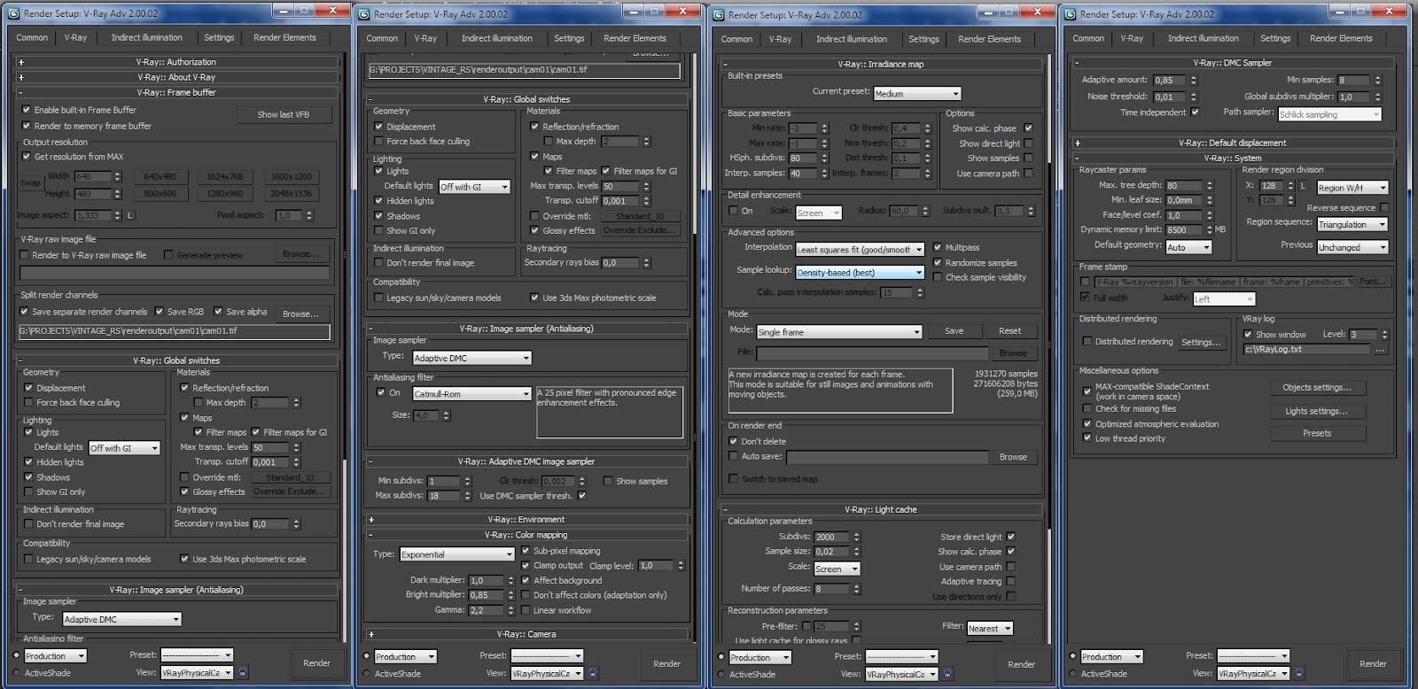 render settings