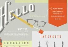 Những bộ CV (Infographic) ấn tượng mà các designer không thể bỏ qua