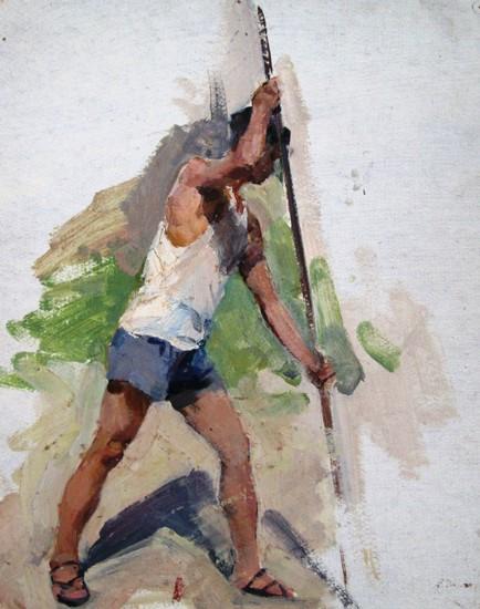 Nhịp điệu cuộc sống đầy ấn tượng trong tranh của Nguyễn Kao Thương