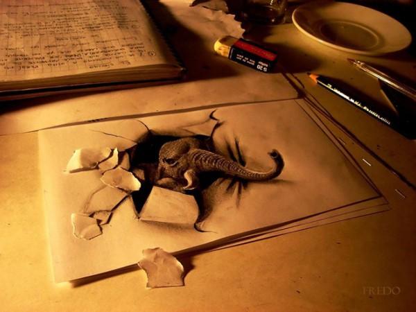 Những tác phẩm 3D sinh động qua nét vẽ chì sáng tạo-12