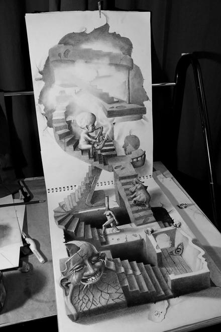 Những tác phẩm 3D sinh động qua nét vẽ chì sáng tạo-13