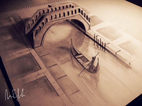 Những tác phẩm 3D sinh động qua nét vẽ chì sáng tạo-1