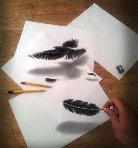 Những tác phẩm 3D sinh động qua nét vẽ chì sáng tạo-7