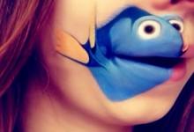 """Khi nghệ thuật trang điểm """"hô biến"""" đôi môi thành nhân vật hoạt hình nổi tiếng"""