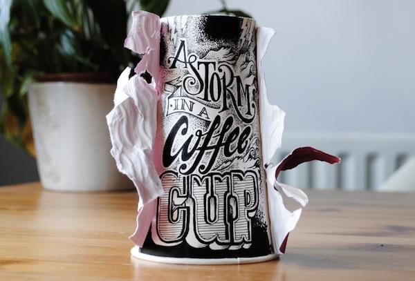 Rob Draper và cảm hứng Typography cực sáng tạo trên Coffee Cup-6